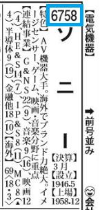 四季報 証券コード欄の見方・読み方