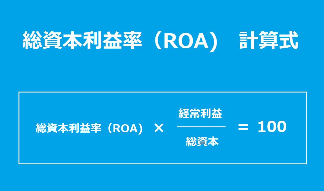 総資本利益率、ROA、計算式、ファンダメンタル分析、業種別平均、経常利益、総資本
