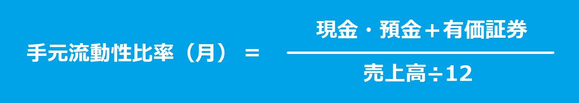 手元流動性比率(月)