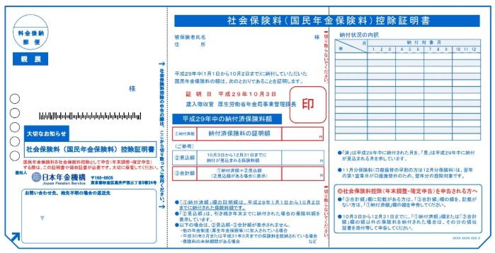 社会保険料控除をするには社会保険料控除証明書が必要