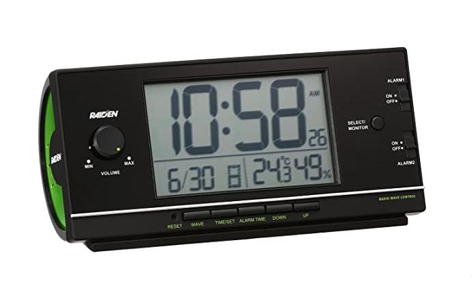 セイコー クロック 目覚まし時計 電波 デジタル 大音量